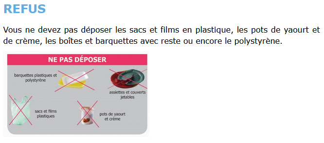 Refus emballages ménagers