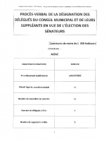 P-V DE LA DESIGNATION DES DELEGUES DU CONSEIL MUNICIPAL ET DE LEURS SUPPLEANTS EN VUE DE L'ELECTION DES SENATEURS