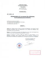 Arrêté du 25-09-2020 Réglementation du ramassage des châtaignes